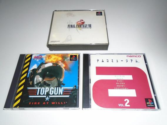 Final Fantasy 8 + Top Gun + Namco Museum 2 Lote Playstation