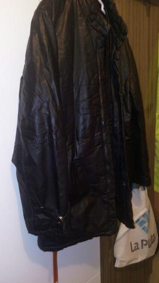 Casaca Cuero Leather Jacket Abrigo Acolchado Campera Talla L
