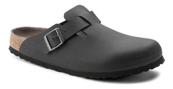 Birkenstock Sandália Boston Soft Ft Regular Preto 12x Sjuro