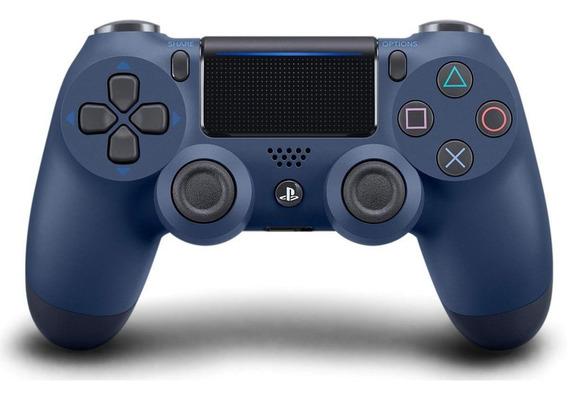 Controle Sem Fio Dualshock 4 Sony Para Ps4 Midnight Blue