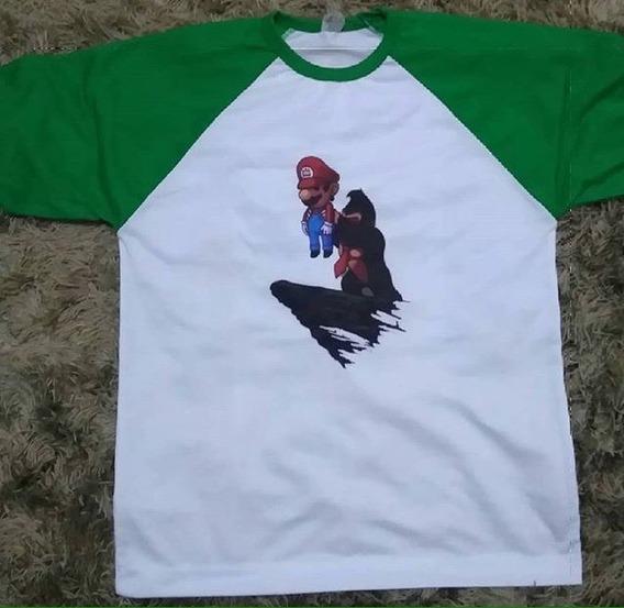 Camisa Raglan Mario Bros