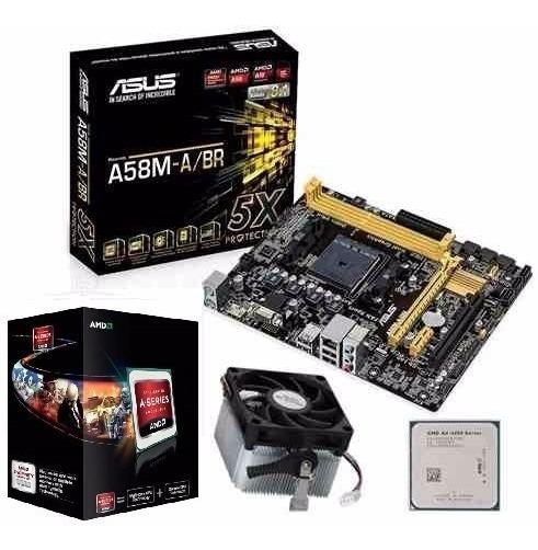 Kit Amd A10 5800k + Asus A58m-a/br Impecavel Acc I5 Ou Fx