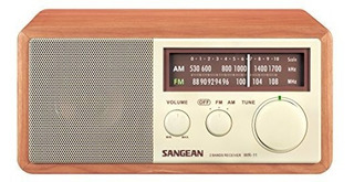 Radio Sangean Wr-11 Wood Cabinet Am/fm Table Top Analog