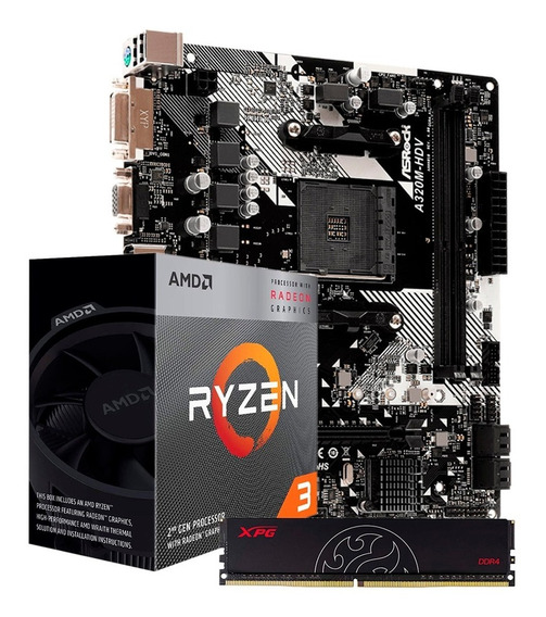 Combo Actualizacion Amd Ryzen 3 3200g 4gb +mother A320m Pce