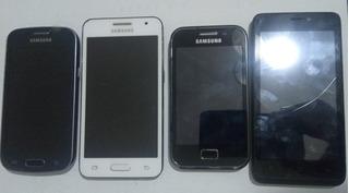 Sucata Celulares Usados Samsung 4 Pçs