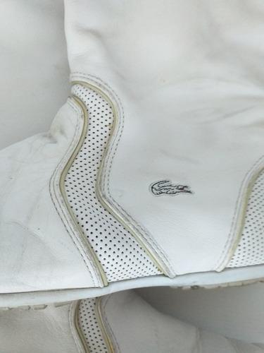 Botas De Verano Lacoste Blancas Caña Alta Casi Sin Uso