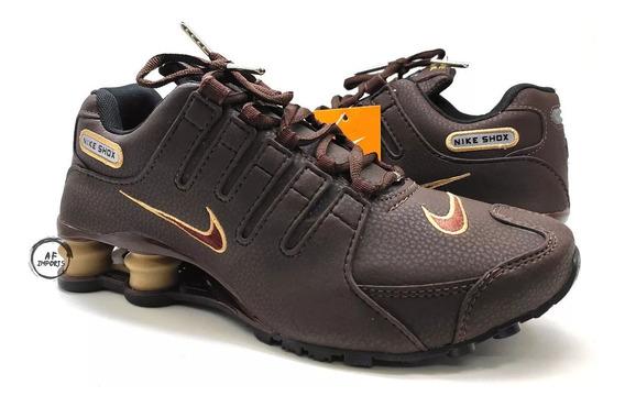 Tenis Masculino Nike Shox Nz 4 Molas Macio Foto Original