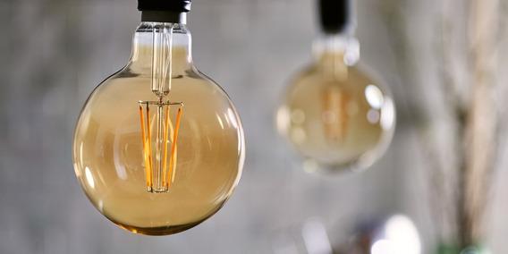 13 Lâmpada Led Vintage Edison 8w Decoração Gold Glas G80