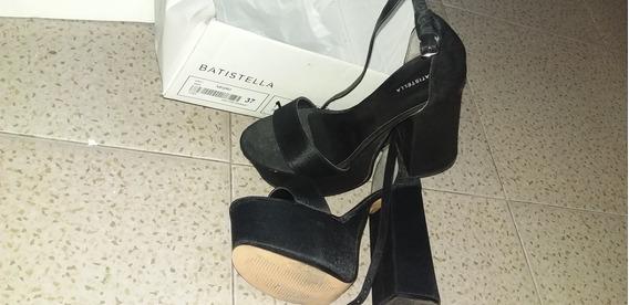 Sandalias, Batistella Color Negro De Razo Talle 37