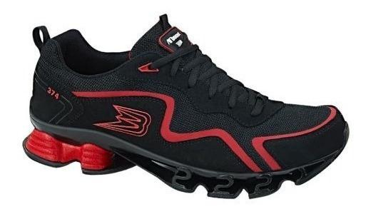Tenis Deportivo Para Caminar Boost Color Negro - Rojo 829291 Urbano 2-19 D