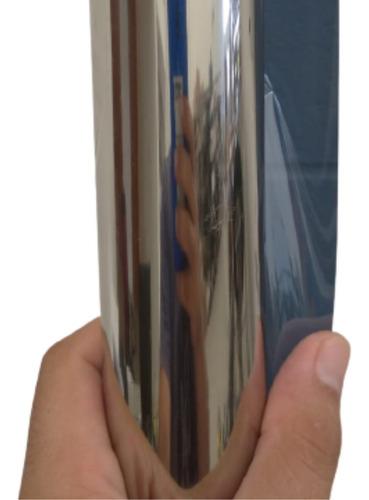 Película Adesiva Insulfilme 50cm X 1m Prata Espelhado.