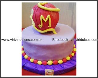 Torta Descendientes Disney Manzana Cumpleaño Bautismo Evento