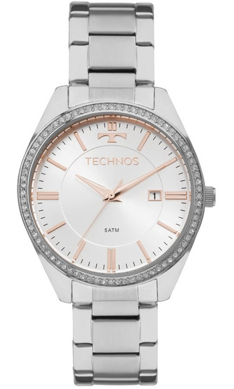 Relógio Technos Feminino Elegance 2115mnc/1k Prata Rose
