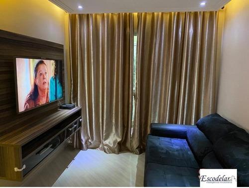 Apartamento Com 3 Dormitórios À Venda, 65 M² Por R$ 350.000,00 - Ponte Grande - Guarulhos/sp - Ap10088
