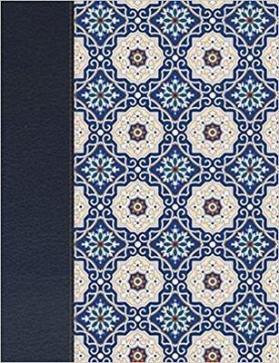 Biblia De Apuntes Rvr1960 Letra Grande Crema Y Azul Tela Imp