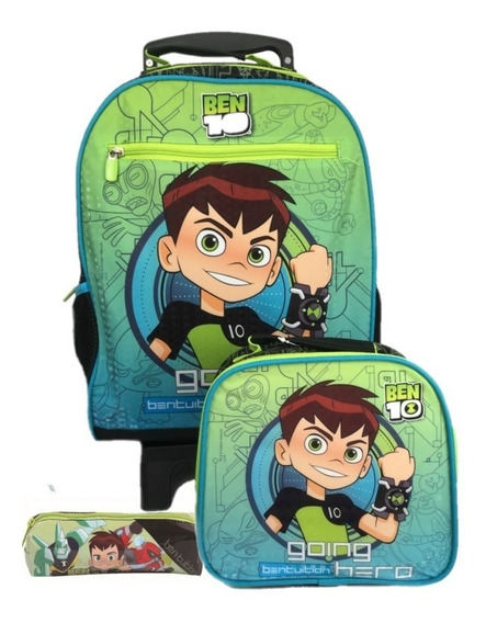 Kit Mochilete Ben 10 Effect Gd 30036 + Lancheira + Estojo