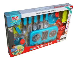 Cocina Juguete Para Niños Y Niñas Con Accesorios