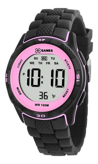Relógio Feminino X-games Xmppd353 Bxpx Digital Preto E Rosa