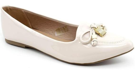 Sapato Sapatilha Feminina Casual Bege Verniz Sua Cia 1449
