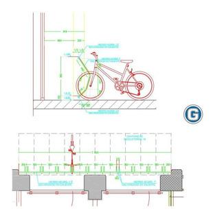 Bicicletero Galvanizado De 10 Posiciones Entrega Inmediata