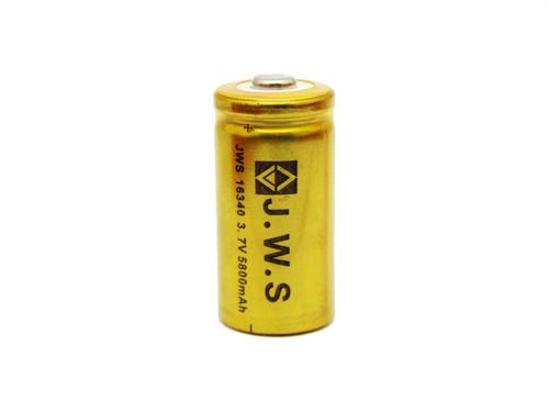 Imagem 1 de 2 de Kit 2 Baterias Gold Jws Recarregável 16340 3,7v Cr123a