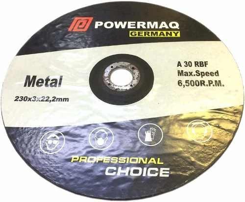 Disco Para Cortar Hierro Powermaq 230 Mm 9  Amoladora