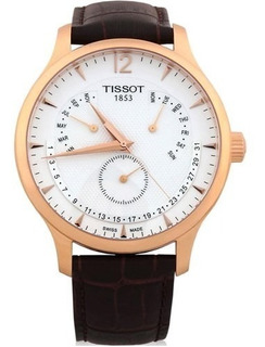 Reloj Tissot Tradition Perpetual Rose Gold Cuero