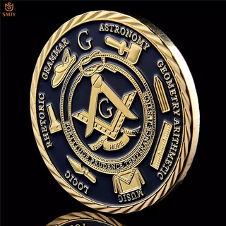 Moneda De Símbolos Masones