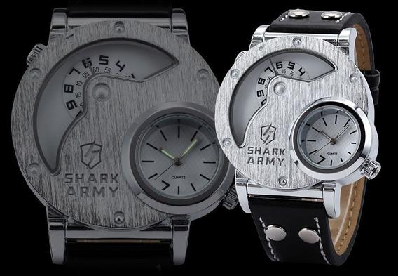 Relógio Masculino Shark Army Original - Frete Grátis