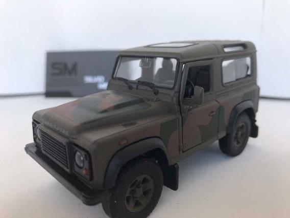 Miniatura Land Rover Defender Exército Escala 1/32