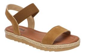 Sandalia Feminina Plataforma Corda Sapato Conforto Elastico