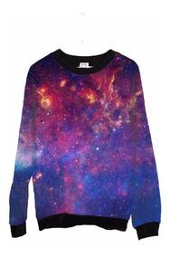 Blusa Moletom Barato Feminina Tumblr Universo Galaxia Space