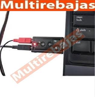 Tarjeta Adaptador Audio Sonido Usb Mic 7.1 Dj Mix Pc Laptop