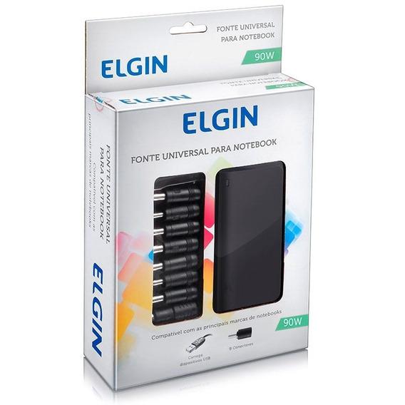 Fonte Universal Elgin P/ Notebook 90w 09 Adaptadores 24614