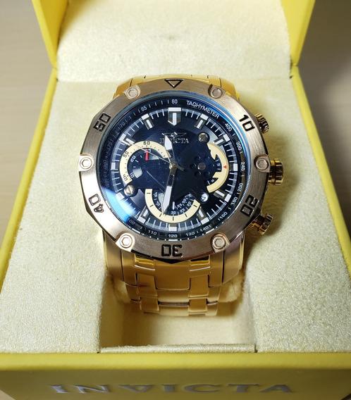 Relógio Masculino Invicta Ouro 18k Pro Diver 22767