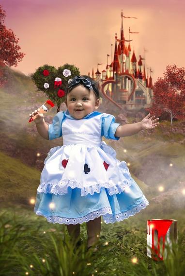 Vestido Alice No País Das Maravilhas