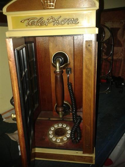 Telefono Antiguo Con Cabina