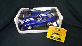 Carro Miniatura Dodge Viper Gts Coupé Azul 1:18 Bburago