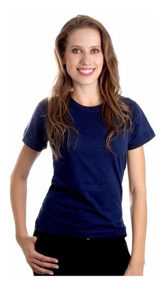 Kit 3 Camisetas Baby Look Feminina Algodão Lisa Blusinha