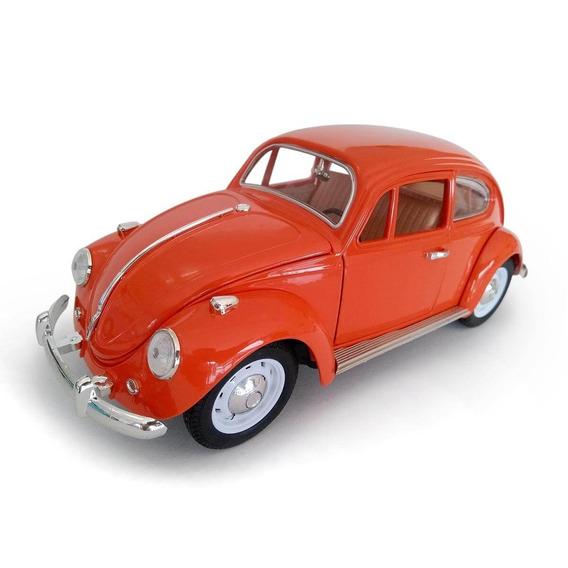 Volkswagen Fusca Escala 1:18 Die Cast Laranja