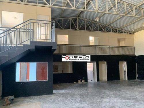 Imagem 1 de 13 de Galpão Para Alugar, 600 M² Por R$ 12.800,00/mês - Cidade Satélite Íris - Campinas/sp - Ga1181