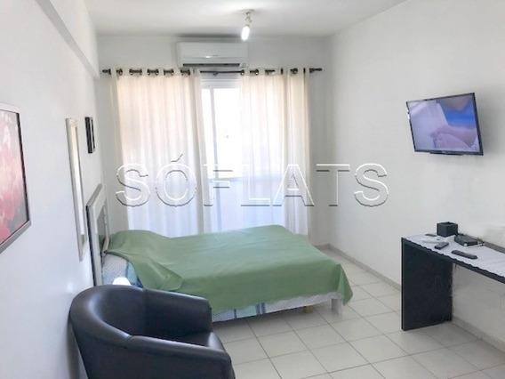 Flat Em Pinheiros Todo Mobiliado 1 Dorm 27m² - Sf4721