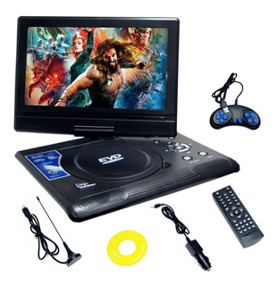 Reproductor Dvd Portatil Usb Pantalla 9.8 Tv Sd Juegos