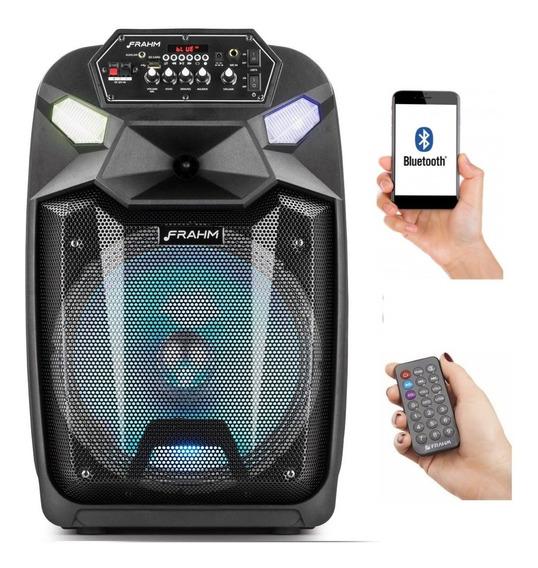 Caixa De Som Cm 650 Portátil - Bluetooth + Usb + Sdcard + Fonte Bi Volt + - Frahm 350wrms