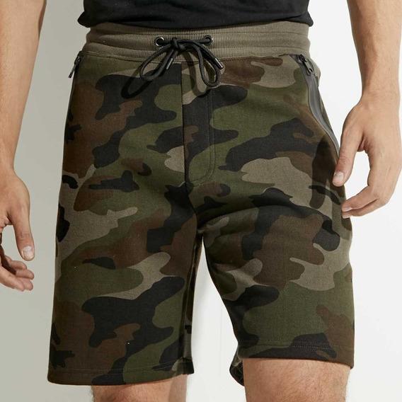 Short Bermuda Camuflaje Militar Casual Hombre