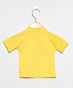 Camiseta Com Proteção Solar Manga Curta Ecotrends - Amarela
