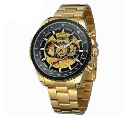 Relógio Mecânico Dourado