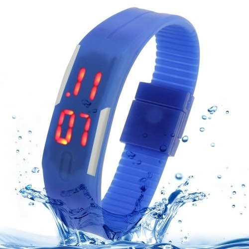 Reloj Touch Digital Deportivo De Pulsera Color Azul