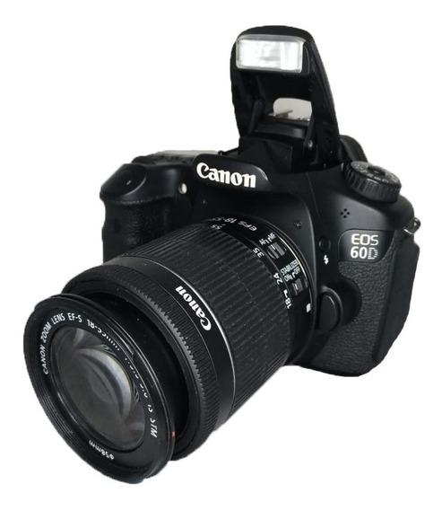 Dslr Canon 60d Semi Nova Lente 18-55mm Impecável