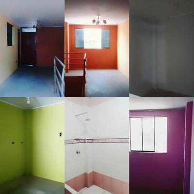 Departamento: 01 Baño, 03 Dormitorios, 01 Cocina, 01 Sala